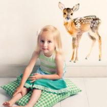 Samolepka na viac použití Baby Deer, 40×30 cm