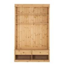 Hnedá knižnica s TV komodou z borovicového dreva Støraa Annabel...