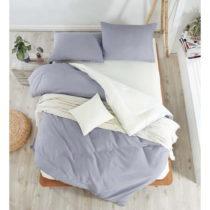 Sivé obliečky s plachtou na dvojlôžko Permento Para, 200&#...