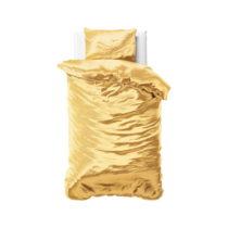Žlté obliečky zo saténového mikroperkálu na ...