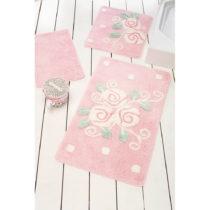 Sada 3 ružových kúpeľnových predložiek Jard...