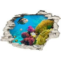 Samolepka Ambiance Finish Blue Sea, 60×90 cm