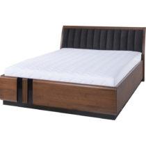 Dvojlôžková posteľ s čiernym polstrovaním S...
