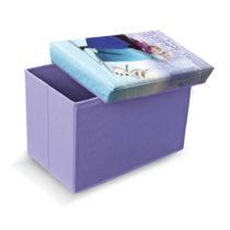 Fialová úložná taburetka na hračky Domopak Frozen, d&...