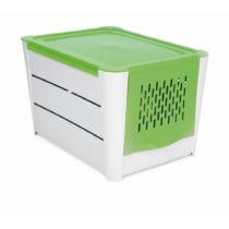 Bielo-zelený úložný box na zemiaky Snips Potatoes