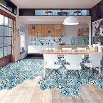 Sada 10 samolepiek na podlahu Ambiance Floor Stickers Hexagons Anéma, 40&#xD7...