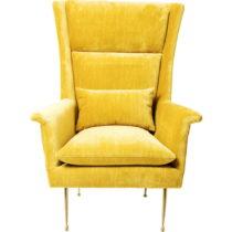 Žlté kreslo Kare Design Vegas Forever