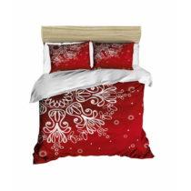 Sada obliečky a plachty na dvojposteľ Red Snowflake, 200 x 220 cm
