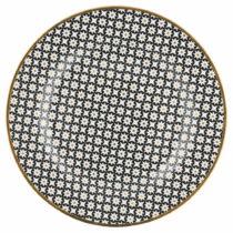 Tanier z kostného porcelánu s čiernym vzorom Green Gate Dot, &#x2300...