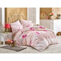 Ružové bavlnené obliečky s plachtou na jednolô&#x...