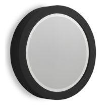 Čierne nástenné zrkadlo Geese Thick, Ø 50 cm