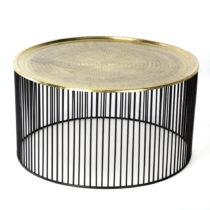 Čierno-zlatý konferenčný stolík ThaiNatura ...