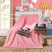 Ružová detská deka z mikrovlákna DecoKing Cuties Puppy, 110 x 1...