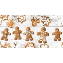 Kuchynský behúň Crido Consulting Festive Gingerbreads, dĺ&...