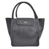 Čierna kožená kabelka Roberta M Pola Nero