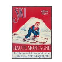 Nástenná ceduľa Antic Line Ski, 25 x 33 cm