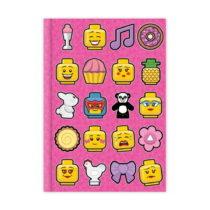 Ružový denník LEGO® Iconic, 96 strán