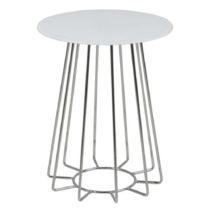 Biely konferenčný stolík Actona Casia, výška 50 cm