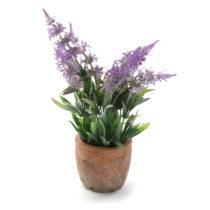 Kvetináč s umelou levanduľou Versa Lavender