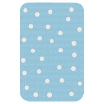 Detský modrý koberec Zala Living Dots, 67 × 120 cm