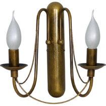 Dvojramenné nástenné svietidlo v zlatej farbe Glimte Elegance