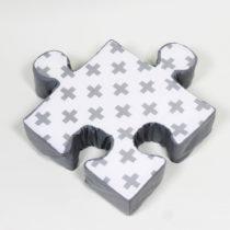 Sivý vankúšik Puzzle Cross