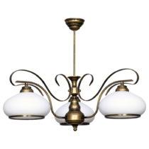 Dvojramenné závesné svietidlo Glimte Patina, ⌀ 23 cm