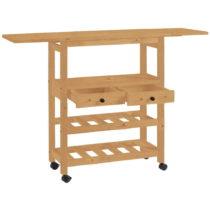 Rozkladací servírovací stolík z borovicového dreva St&a...