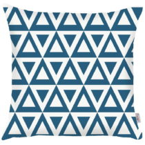 Modrá obliečka na vankúš Apolena Triangle, 43&#x...
