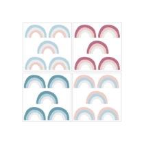 Sada 20 nástenných samolepiek Dekornik Rainbow Color