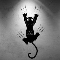 Vinylová samolepka na stenu Scratch, 27×50 cm