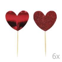 Sada 12 zapichovacích dekorácií na tortu Miss Étoile Heart