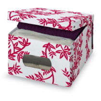 Červeno-biely úložný box Domopak Living, vý&#x161...