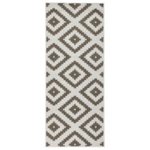 Hnedý vzorovaný obojstranný koberec Bougari Malta, 80×...