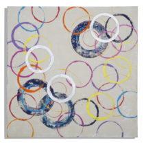 Ručne maľovaný obraz Mauro Ferretti Circles, 80×&...
