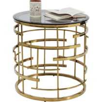Odkladací stolík v zlatej farbe Kare Design Jupiter, ⌀55&...