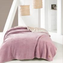 Ružová deka na jednolôžko Josy, 150×&#x...