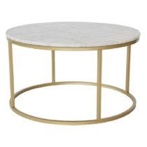 Mramorový odkladací stolík s konštrukciou vo farbe mosadze RGE ...