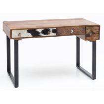Pracovný stôl s 3 zásuvkami z masívneho mangového dreva...