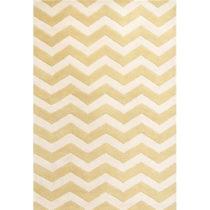 Vlnený koberec Crosby Yellow, 152×243 cm