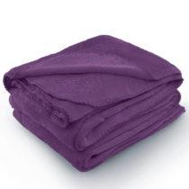 Fialová deka z mikrovlákna AmeliaHome Tyler, 220 × 240 cm