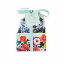 Sada 3 úložných boxov na stôl Portico Designs Bleu Floral