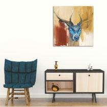 Obraz na plátne Colorful Deer, 45 x 45 cm