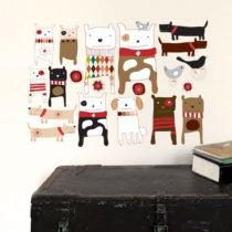 Samolepka na viac použití Dogs, 59x40 cm