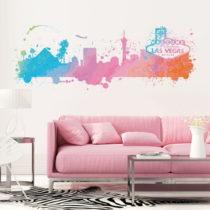 Nástenná samolepka Ambiance Wall Decal Las Vegas Watercolor, 40&#xD7...