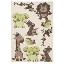 Detský zeleno-hnedý koberec Zala Living Animals, 140×...