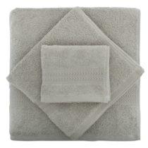 Set 2 sivých bavlnených uterákov a osušky zo 100% bavlny Rainbo...