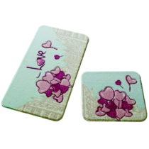 Sada 2 kúpeľňových predložiek Confetti Bathmats Love...