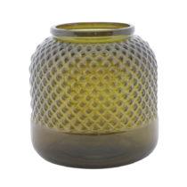 Zelená váza z recyklovaného skla Mauro Ferretti Bolt, ⌀ 19 cm