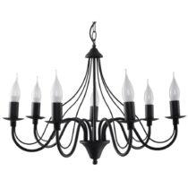 Čierne stropné svetlo Nice Lamps Floriano 7